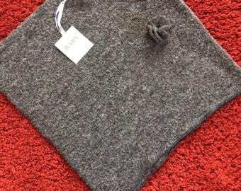 Junior grey wool poncho, Cape, Cape, Cape, wrap