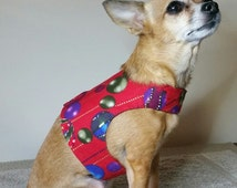 Red Bauble Christmas Harness Walking Vest Small #1