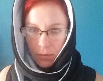 Reversible hooded scarf