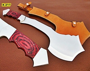X 217- Handmade high Carbon Steel Solid Axe