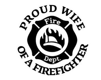 Firefighter Wife Decals