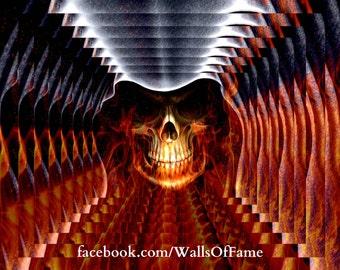 Original Artwork. Firey Skull 2