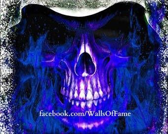 Original Artwork. Firey Skull 12