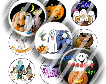 Digital Bottle Cap Collage Sheet - Halloween 2 - 1 Inch Circles Digital Images for Bottlecaps