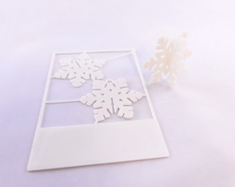 3D Printed Christmas Card Ornaments - Snowflake