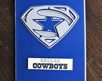 Dallas Cowboys Card - Super Cowboys Fan, Football Team Card