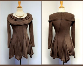 Free Shipping. Gorgeous Cowl Neck SML Size tunic In Soft Spandex Fabric