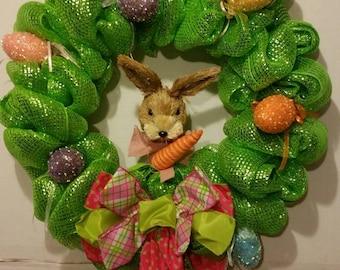 Easter Rabbit Glitter Egg Wreath