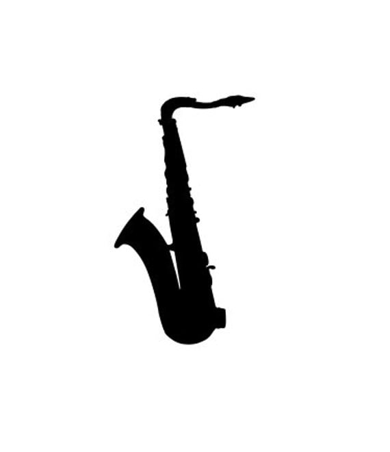 Saxaphone, SVG File.  For Silhouette or Cricut Machines.  For use with HTV, Oracle 631/651, Paper cutter file