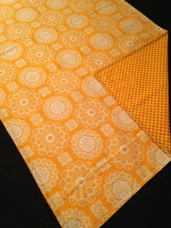 Washable Weighted Moroccan Orange Lap Pad/Small Blanket/Travel Weighted Blanket 3 pounds.  14.5x22 Ready to Ship