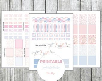Planner Sakura Sticker Horizontal + Vertical October for use with Erin Condren life planner