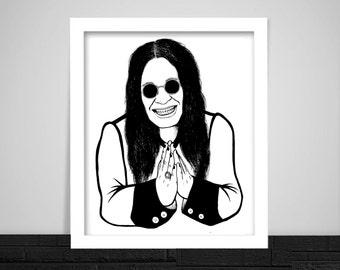 Ozzy Osbourne Print