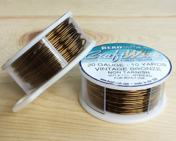 20 gauge vintage bronze plated craft wire 10 yards 20 for 10 gauge craft wire