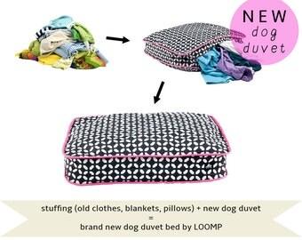 Dog duvet bed, dog duvet pillow cover, pet pillow cover duvet