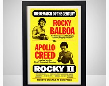 Rocky Balboa vs. Apollo Creed Rematch 11x17 Poster Print Movie Vintage Wall Art Home Decor Boxing Sports Gift Sylvester Stallone II III IV