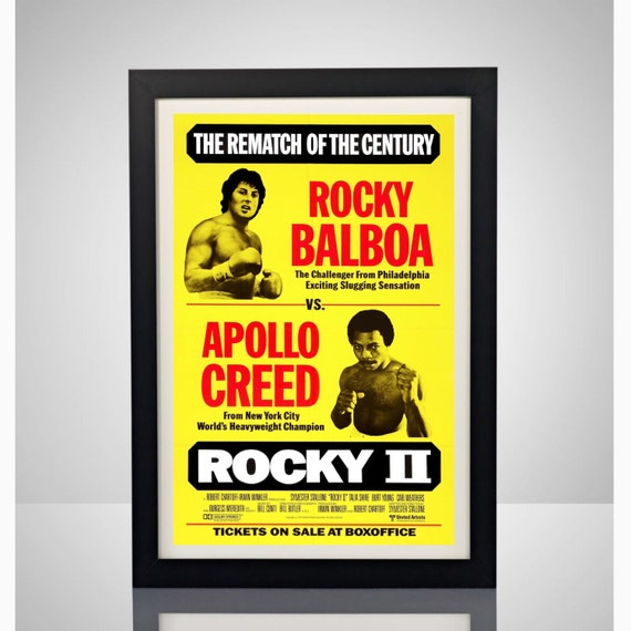 Rocky Balboa vs. Apollo Creed Rematch 11x17 Poster by ...