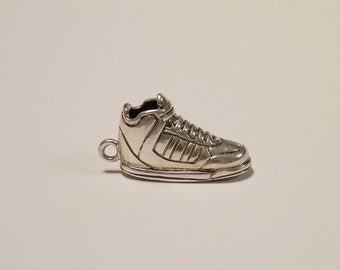 Fashion Men Women Sneaker shoe 925 Sterling Silver Pendant Necklace Jewelry Christmas Gift Free Shipping