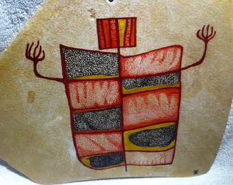 Dancing Shaman based upon Motives  from the Utah Rock Art Sides