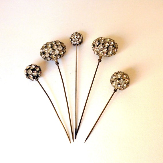 Victorian Hat Pins For The Old West Reenactor Or Steampunk: Antique Victorian Edwardian Hat Pins C1890s
