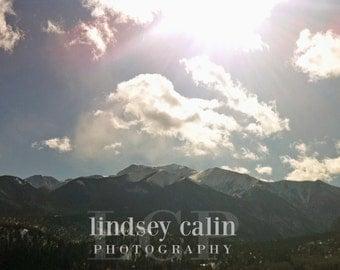 Mountain Print, Nature Photography,  Winter Art, Landscape Photography, Colorado Mountain Print, Colorado Photography, Rocky Mountain Photo