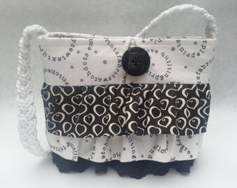 Pattern for Ruffled to Cuteness Purse, 3 Sizes, Easy Zipper
