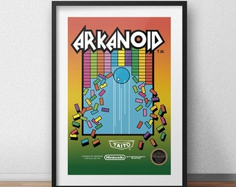 Arkanoid Original NES Box print