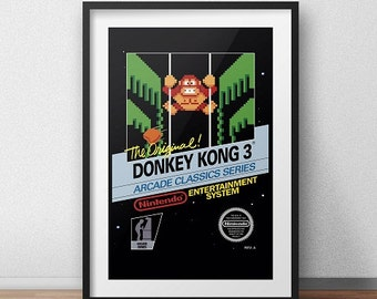 Donkey Kong 3 Original NES Box print