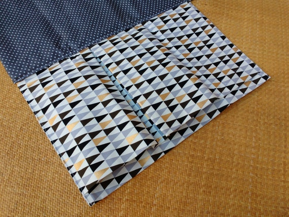 Nappy Wallet integrated with waterproof Change Mat- three or two pockets-Buzoku Peaks Cotton Duck