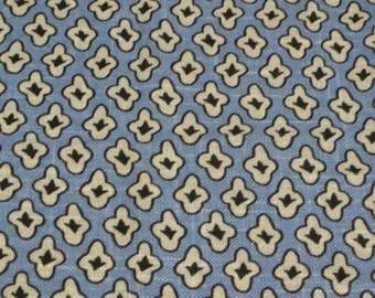 "SALE! The Ashlee Collection, Covington, ""Wesley"", Cabana Blue, Small Geometric Print. Blue,gray,black fabric. Drapery Weight"