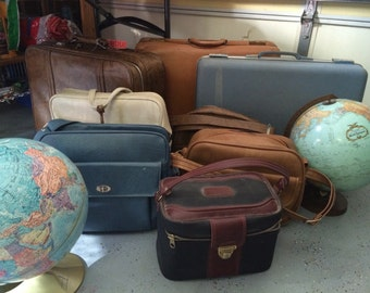 Vintage suitcases and travel bags