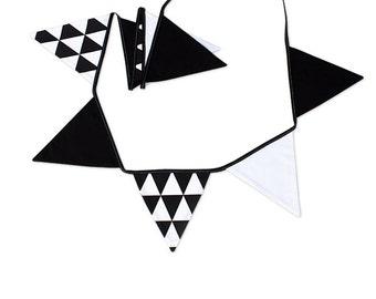 Garland Triangle Bunting Banner Black&White