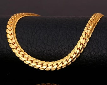 Gold chain bracelet 18 K Gold GP (3 colors)