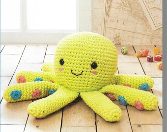 Crochet Octopus Amigurumi Pattern only Natura XL Yarn