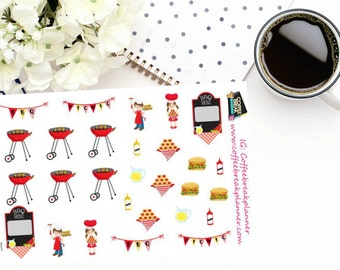 Planner Stickers |Barbeque and Picnic| Summer Fun| Decorative Stickers| D017
