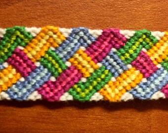 Handmade Woven Zig Zag Friendship Bracelet