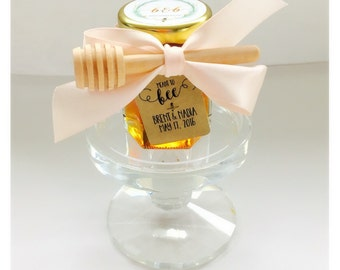 Blush Wedding Honey Jar Favor, Wedding Favor, Honey Jar Wedding Favors, Honey Wedding Favor, Blush Ribbon, Blush Wedding