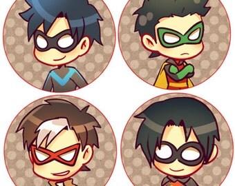 Batman Button Set (4)