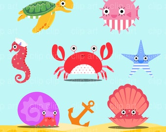 Under the Sea Clipart / Ocean Clipart / Marine Clipart