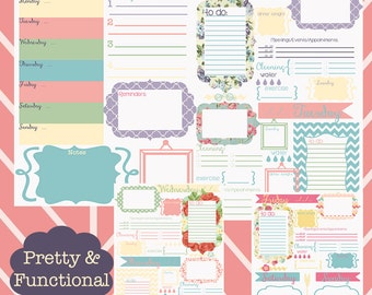 Weekly Daily Printable planner--Pretty and Functional••planner pages••planner inserts••to do list
