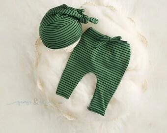 Phillip Pant & Bonnet Set- Newborn Pant and Bonnet Set - Photography Prop