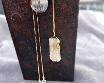 Solar Quartz and Sterling Silver Necklace