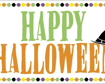 Happy Halloween Treat bag tag - Instant Download