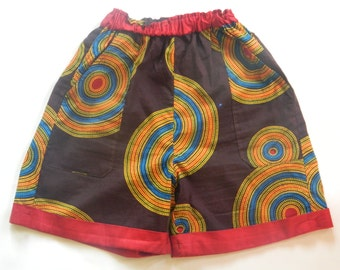 Whimsical African Fabric Printed Shorts