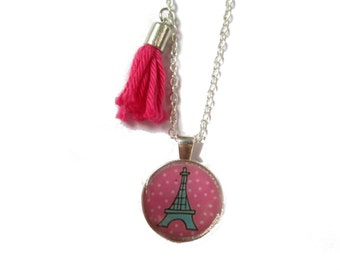 EIFFEL TOWER NECKLACE - Paris Necklace - Eiffel Tower Pendant - Paris jewelry - kids jewelry - party - favor - children - birthday - child