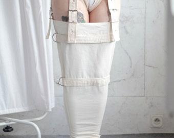 Legs Restraints - Straitjacket type laced leg restraints