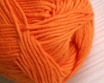 Cotton Yarn Alize Bella Natural Yarn Summer Knitting Crochet Yarn Baby Yarn Hypoallergenic Yarn Orange Cotton Yarn