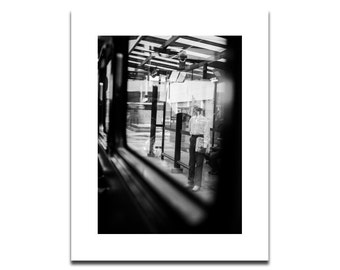 Black & White Street Photography | Indianapolis, IN Public Transit | Fine Art Archival Photograph Mounted on Styrene | Modern Wall Art