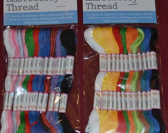 24 pcs embroidery thread /skeins  pack c