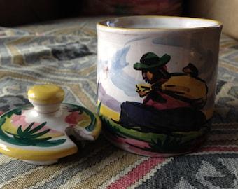 Peruvian pottery sugar bowl