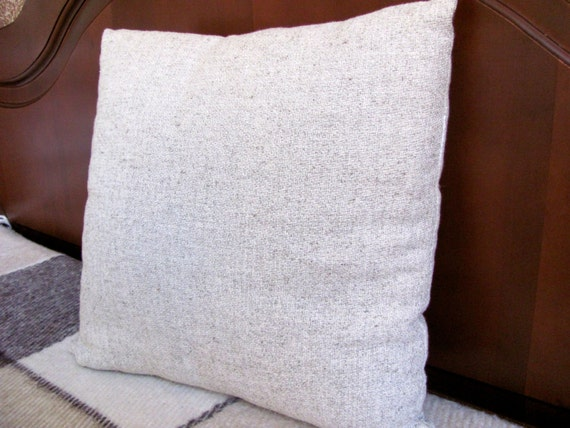 Hypoallergenic Throw Pillow Covers : HEMP Organic Pillow filled HEMP FIBER/Hemp cover/Hemp pillow/